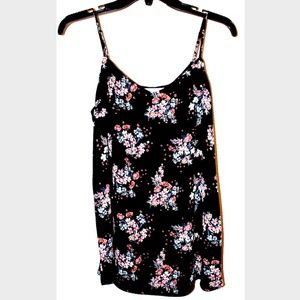 Hippie Rose Floral Blouse Black L